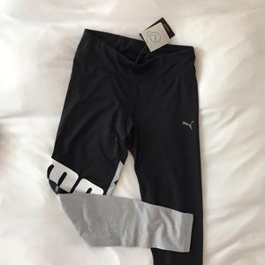 Puma Black/Gray Drycell Workout Leggings